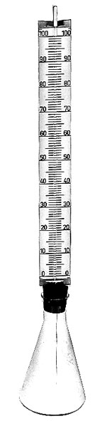 Thermometermodell aus Glas