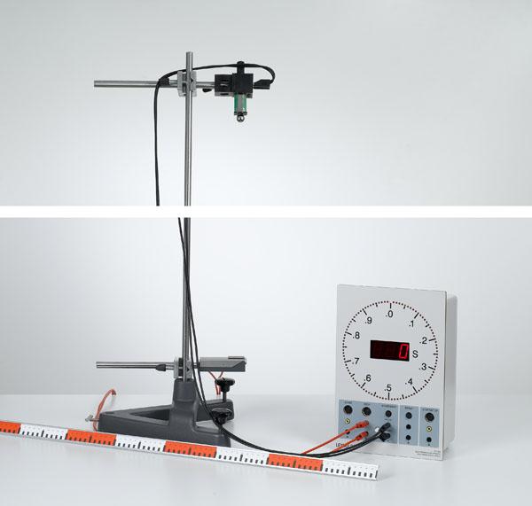 Bestimmung der Fallbeschleunigung - Messung mit Prallplatte und Elektronischer Stoppuhr