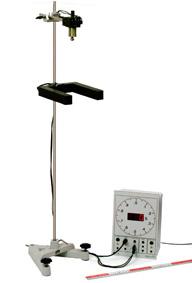 Bestimmung der Fallbeschleunigung - Messung mit Lichtschranke und Elektronischer Stoppuhr