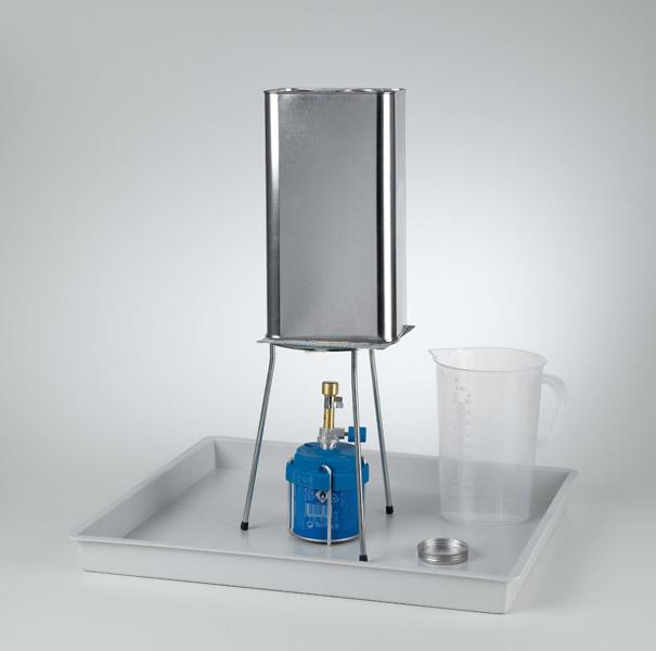 Wirkung des äußeren Luftdruckes auf einen Blechkanister