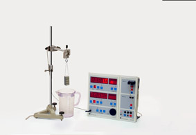 Auftriebskraft in Flüssigkeiten - Messung mit Sensor-CASSY und Display