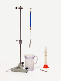 Abhängigkeit der Auftriebskraft vom Volumen des Körpers - Messung mit Präzisionskraftmesser