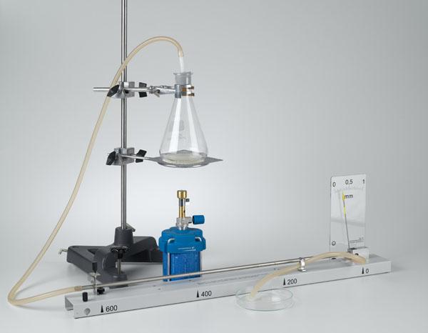 Längenausdehnung von Rohren bei Temperaturerhöhung - Längenausdehnungsapparat D