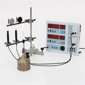 Absorption von Wärmestrahlung - Messung mit Sensor-CASSY und Display
