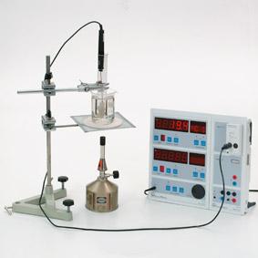 Schmelz- und Erstarrungstemperatur/Kerzenwachs - Messung mit Sensor-CASSY und Display