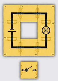 Einfacher Stromkreis-Aufbau mit Leiterbausteinen