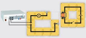 Modell eines Relais - Aufbau mit Leiterbausteinen