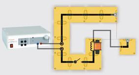 Modell einer elektrischen Klingel - Aufbau mit Leiterbausteinen