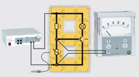 Temperaturgesteuerter Transistor - Aufbau mit Leiterbausteinen