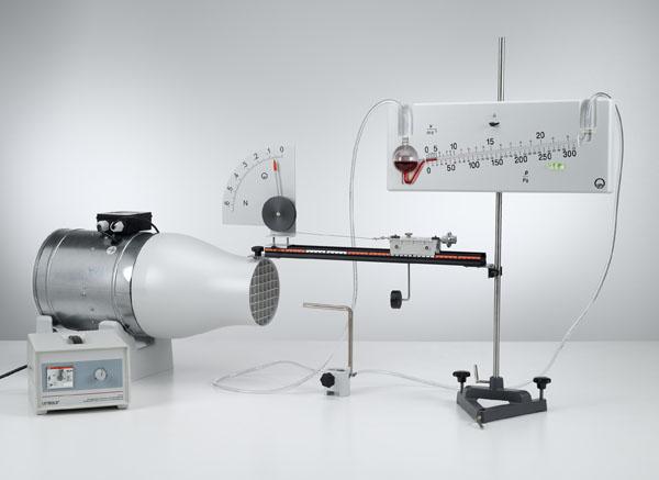 Luftwiderstand in Abhängigkeit von der Windgeschwindigkeit und der Körperform - Messung der Windgeschwindigkeit mit dem Feinmanometer
