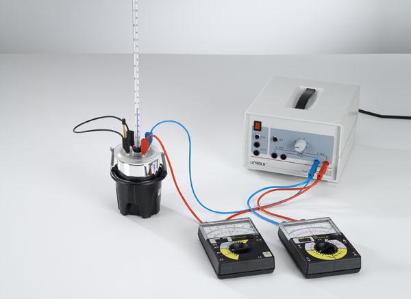 Umwandlung von elektrischer Energie in Wärmeenergie - Messung mit Volt- und Amperemeter
