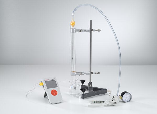 Temperaturabhängigkeit des Gasdrucks bei konstantem  Volumen (Gesetz von Amontons)