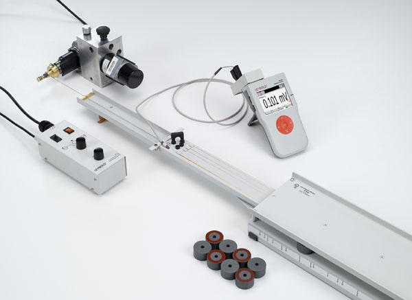 Messung der Induktionsspannung in einer durch ein Magnetfeld bewegten Leiterschleife