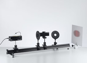 Interferenz am Fresnel-Spiegel mit einem He-Ne-Laser