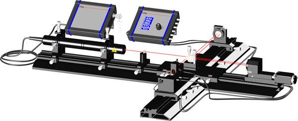 Michelson Laserinterferometer mit Streifenzähler und motorisierte Verschiebung