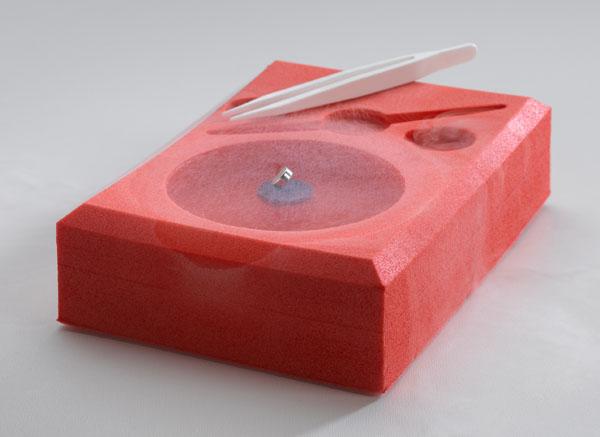 Meißner-Ochsenfeld-Effekt an einem Hochtemperatur-Supraleiter