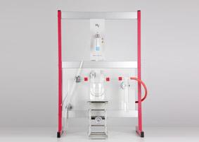 Qualitative Wassersynthese, Aufbau mit Stativmaterial