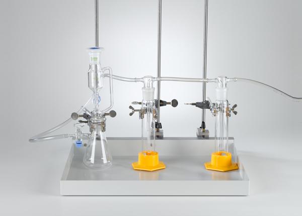 Herstellung von Gasen mit einem Tropftrichter