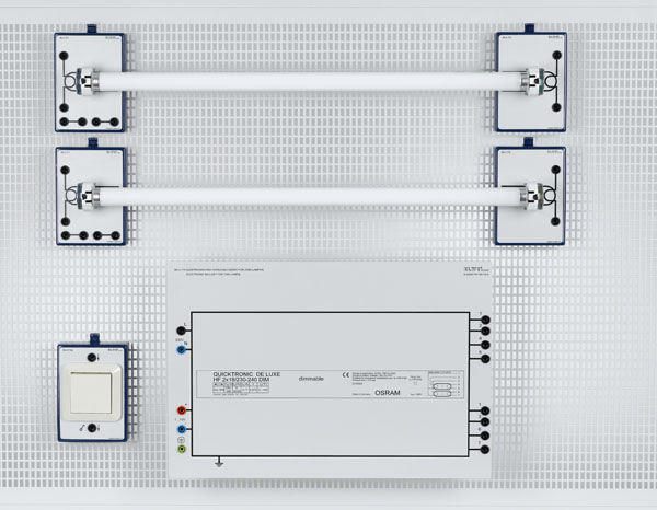 Ü 4.130 Installationsschaltungen Leuchtstofflampen