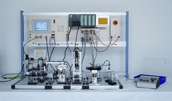 Mechatronisches Kompakt-Modell für fünf Stationen
